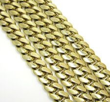 """14K Yellow Gold Cuban Curb Miami Mens Chain Necklace 30"""" Inches 173Grams 8.7mm"""