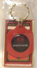 New DODGE ~ Logo Keychain ~ DODGE ~ Ancien Porte-Cle Neuf ~ USA Product ~ NWT