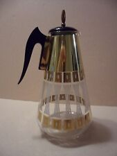 Pyrex Corning Glass  Coffee Pot Carafe Atomic & Candle Warmer Stand