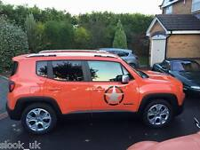"Silver Jeep Renegade Star sticker - distressed look 17""  432mm"