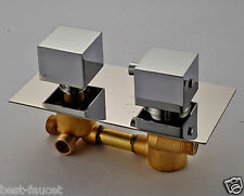 Shower 3-water Model Diverter Thermostatic Mixer Valve Chrome Finish