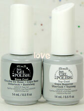 IBD Just Gel Polish LED/UV 15ml/0.5fl.oz Base Coat & Top Coat of Set