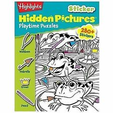 Highlights Sticker Hidden Pictures Playtime Puzzles