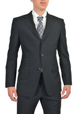 Tom Ford Men's 100% Wool Black Three Button Suit US 38 IT 48