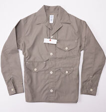 New $385 POST O'ALLS Olive Poly-Cotton 'Cruzer' Jacket M Medium Overalls USA