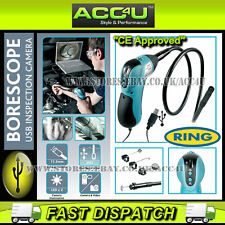 Ring RBS50 Borescope Inspection Tool USB Camera With LED Light & Flexible Probe