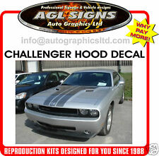 2009 - 2010 DODGE CHALLENGER CUSTOM HOOD DECAL, GRAPHIC, STRIPE