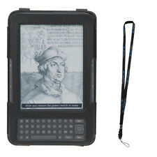 For Amazon Kindle Keyboard 3 G Black Leather Cover Skin Case with Stand