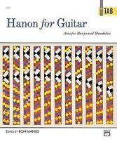 Hanon for Guitar in TAB by Ron Manus (1993, Paperback) Also for Banjo & Mandolin