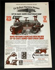 1927 OLD MAGAZINE PRINT AD, UP-TO-DATE HOME-CRAFTSMAN SHOP, MECHANICS MADE EASY!