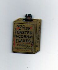 VINTAGE BRASS  KELLOGGS TRINKET HARD FIND TOASTED CORN FLAKES SMALL TOASTER RARE