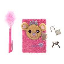 Claire's Kids Fluffy Claire Bear Diary in Pink