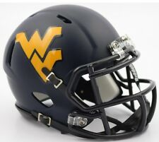WEST VIRGINIA MOUNTAINEERS 2016 SATIN NAVY Revolution Speed Mini Football Helmet