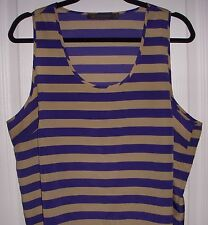 OUTBACK RED THE LIMITED Women's XL X-Large Tank Top Sleeveless Shirt Striped