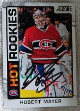 Montreal Canadiens Robert Mayer Signed 12/13 Score Hot Rookie Card Auto