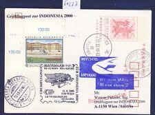 50277) LH / AUA SF Wien - Frankfurt - Djakarta 11.8.2000, GA TAIPEI China