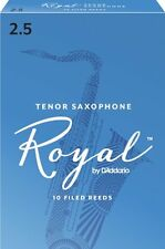 Rico Royal Tenor Saxophone Reeds #2.5 (10-Pack) NEW rkb1025 - Ten Reeds