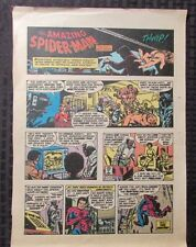 1977 SPIDER-MAN Sunday Comic Strip 11/16/77 John Romita FN- Kraven