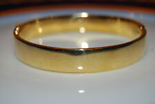 RALPH LAUREN BOLD RUNWAY COUTURE GOLD TONED METAL HINGED BANGLE CUFF BRACELET
