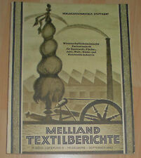 dachbodenfund fach zeitschrift textilbericht textil industrie melliand 1930 alt