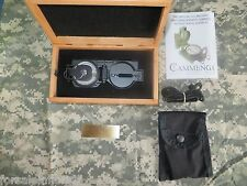 CAMMENGA USGI MILITARY TRITIUM LENSATIC COMPASS in WOODEN PRESENTATION GIFT BOX