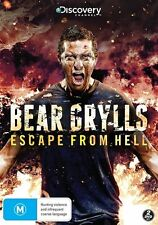 Bear Grylls - Escape From Hell (DVD, 2014, 2-Disc Set) LIKE NEW ... R4