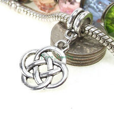 Celtic Knots Dangle Bead Large Hole Slider for European Charm Bracelet
