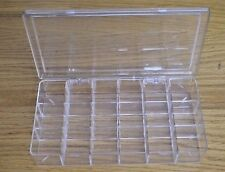 Bead Craft Organizer Clear Plastic Storage Display Box 18 Compartments