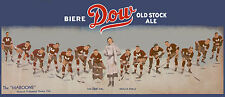 "1932-33 Montreal Maroons ""Dow Old Stock Ale"" Panoramic Ad - 10""x24"" Photo"