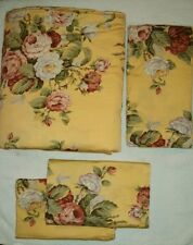 Vintage Ralph Lauren Kathleen Queen/King 4PC Duvet Cover Set -Yellow Floral