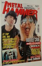 METAL HAMMER # 77  MOTLEY CRUE PANTERA MR. BIG NAPALM DEATH BLACK SABBATH ZZ TOP