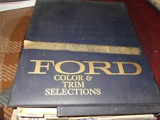 1972 FORD MUSTANG MACH 1 GRAN TORINO THUNDERBIRD DEALER COLOR UPHOLSTERY ALBUM