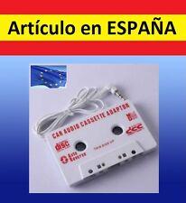Adaptador CASSETTE blanco coche reproductor mp3 mp4 ipod casete cassete casette