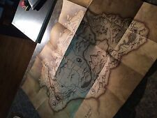ELDER SCROLLS V SKYRIM Deluxe Fold-Out- THICK PAPER ORIGINAL  - MAP / POSTER