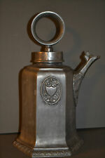 V.Large Antique Arts and Craft Scandinavian Pewter/White Metal Coffee Pot,c 1900
