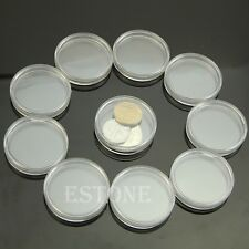 10pcs 40mm Applied Clear Round Cases Coin Storage Capsules Holder Round Plastic