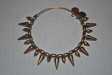 Alex and Ani Expandable Energy Bracelet Russian Gold Spike of Courage RETIRED