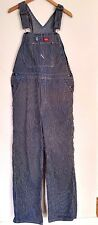 Dickies Work Vintage Dungarees Overalls Bib and Brace Blue Stripes32X 32 hickory