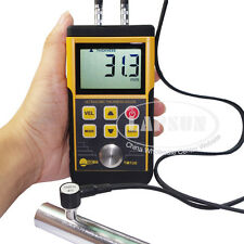 Digital Ultrasonic Wall Tube Thickness Gauge Tester Meter Probe For Metal TM130