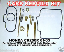 CARBURETOR REBUILD KIT MAIN JET GASKET NEEDLE SPRING MIKUNI TMX 38mm FLAT SIDE