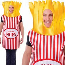 Adult French Fries Costume Potato Chips Unisex Fancy Dress Outfit New