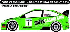 DECALS 1/43 FORD FOCUS WRC #1 - BIRD - JACK FROST STAGES RALLY 2010 - MFZ D43204
