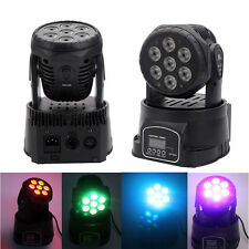 New 7 LED RGB DJ Club Disco Party DMX512 Moving Head Light Stage Lighting Xmas