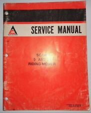 Allis Chalmers 5 & 8 Scamp Riding Mower Service Shop Repair Manual  Original! ac