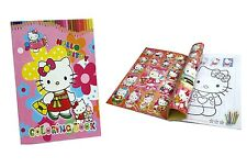 Hello Kitty Coloring Book Party Gift Fun For Kids 13.5x20cm 16 Page With Sticker