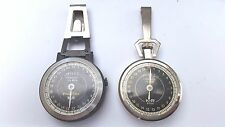 K and R pedometer lot of 2 pedo vintage with belt clips  w111