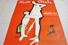 """MON ONCLE my uncle Jacques Tati  etaix French 23""""x30 poster Excellent condition"""
