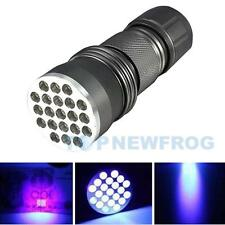 Aluminum UV Ultra Violet Blacklight 21 LED Flashlight Torch Lamp Light Outdoor