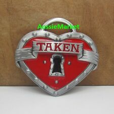 1 x ladies girls belt buckle womans metal jeans dress hens night party red taken