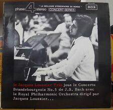 JACQUES LOUSSIER/BACH CONCERTO BRANDEBOURGEOIS N° 5 FRENCH LP PHASE 4 DECCA 1969